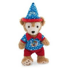 """disney parks duffy the disney bear dated 2014 12"""" plush toy new with tag"""