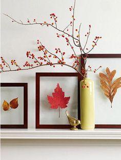 こっくり暖かい秋色のお部屋インテリア参考画像集【小枝や落ち葉、木の実も】 - NAVER まとめ