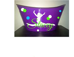 Gymnast Personalized Purple Bin Easter by PersonalizedbyDawn