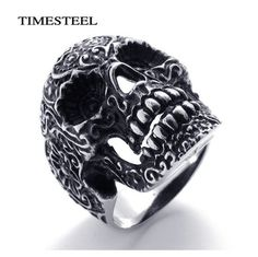 Punk / Gothic Skull Ring Very Cool Fashion Men's 316L Stainless Steel – WILLSTYLE