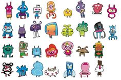"ustwo: ""just some of the wonderful Jon Burgerman characters that we are bringing to life for our Jon Burgerman/ustwo™ collaboration inkstrumental™. Graffiti Doodles, Kawaii Doodles, Doodles Zentangles, Small Canvas, Little Monsters, Elementary Art, Mythical Creatures, Art Lessons, Illustrators"