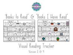PRINTABLE: x2 'Books I have Read' & 'Books to   Etsy Cool Bookshelves, Bookshelf Design, Bullet Journal Books, Book Journal, Reading Tracker, Book Spine, Blank Book, Book Title, Journal Prompts