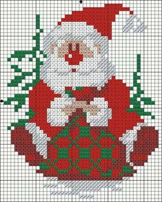 This Pin was discovered by Жен Santa Cross Stitch, Cross Stitch Cards, Cross Stitching, Cross Stitch Embroidery, Cross Stitch Christmas Ornaments, Christmas Embroidery, Christmas Cross, Modern Cross Stitch, Cross Stitch Designs