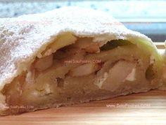 Strudel de manzana fácil  Strudel de manzanas, receta típica donde la masa fina del strudel se mezcla con la preparación de manzanas dándole un sabor inconfundible.