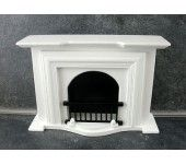 Dolls House Miniature 1 12 Scale Furniture White Wooden Fireplace Dolls House Miniature Furniture White Wood Fireplace width 147mm - height 105mm 5 3