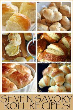 Seven Savory Roll Recipes! #rolls #homemade rolls