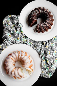Chocolate Ricotta Pound Cake & Lemon Poppyseed Pound Cake