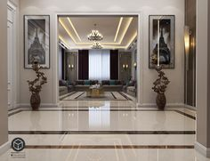 Mjles Regal on Behance House Ceiling Design, Ceiling Design Living Room, Floor Design, Living Room Designs, Interior Exterior, Luxury Interior, Home Interior Design, Interior Architecture, Hotel Lobby Design