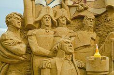 En el museum-reserve Kolomenskoye hicieron una muestra de esculturas de arena