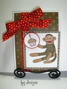 Cards, Stampin' Up!, Sock Monkey