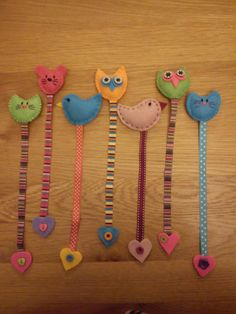 Cute felt bookmarks made for craft fair - sold out! Cute felt bookmarks made for craft fair - sold out! Cute felt bookmarks made for craft fair - sold out! Cute felt bookmarks made for craft fair - sold out! Felt Crafts Diy, Felt Diy, Crochet Crafts, Craft Gifts, Crafts To Make, Fabric Crafts, Sewing Crafts, Sewing Projects, Arts And Crafts