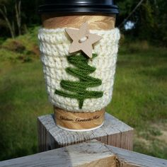 Christmas Coffee Cozy Cozy Christmas Tree by SweeTweetCreations