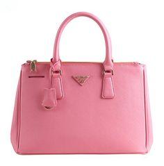 Pink Leather Zippered Handbag Tote