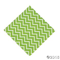 Green Chevron Luncheon Napkins - OrientalTrading.com