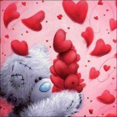 bear and hearts Teddy Bear Quotes, My Teddy Bear, Cute Teddy Bears, Tatty Teddy, Love Hug, Love Bear, My Love, Cute Images, Cute Pictures