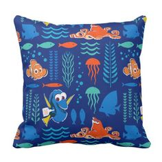 Finding Dory Sea Pattern Throw Pillow