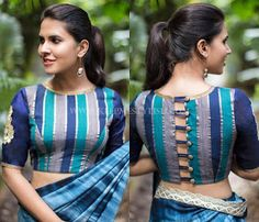 blouse back neck designs for pattu sarees Looking for new blouse back neck designs to your silk (aka pattu) sarees? Check out our latest 13 blouse models to find out what is trending this season. Choli Designs, Saree Jacket Designs, Saree Blouse Neck Designs, Designer Blouse Patterns, Fancy Blouse Designs, Latest Blouse Designs, Sari Design, Designer Kurtis, Blouse Designs Catalogue