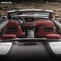 The interior combines a stylish design and exclusive appointments with fine materials and lavish details. The cockpit of the Cabriolet is sporty with the AMG instrument display and sports steering wheel. The high-quality, sporty interior truly makes every ordinary day in the vehicle an extraordinary experience. [Combined fuel consumption: 10.4 l/100 km | CO2 emissions: 244 g/km]