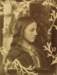 Photograph of Kate Dore, Julia Cameron and Oscar Rejlander Photograph Kate Dore with frame of plants Julia Margaret Cameron and Oscar Gustav Rejlander About 1864 England History of Fashion 1840 - 1900 - Victoria and Albert Museum History Of Photography, Artistic Photography, Portrait Photography, Victorian Photography, Julia Margaret Cameron, Pre Raphaelite, Oscar, Victoria And Albert Museum, Poses