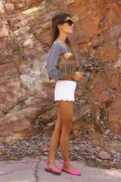 Twitter / TrendysMx: Shorts de encaje blanco con ...me encanta!!!