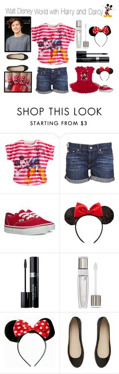 """Walt Disney World with Harry and Darcy"" by cheerleader1993 ❤ liked on Polyvore featuring AG Adriano Goldschmied, Vans, Disney, Christian Dior, Lancôme and Witchery"