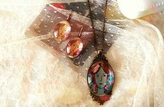#necklace#earrings#bronze #vintage#jewelry#paintedby#handmade#