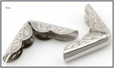 zilverkleurige boekhoekjes 4mm