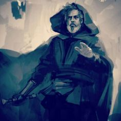 "Fun Fact & Ep7 Concept Art : Luke Skywalker was initially called ""Anakin Starkiller"", and went through multiple design changes. The character was at one point designed as a 60-year-old grizzled war hero, later as a Jedi Master, and as a female. - Cookie"