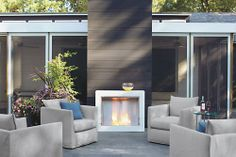 Synergy Aspect Fireplace - EcoSmart Fireplaces - Outdoor - Room & Board