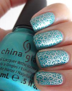 Silver Swirls with China Glaze Custom Kicks