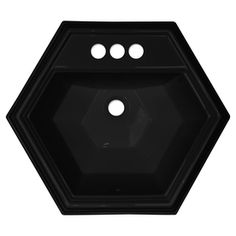 CorStone Edgefield Gloss Black Acrylic Hexagonal Bath Sink