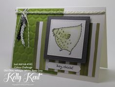 Just Add Ink #341 - Colour Challenge. Hey, Chick. Kelly Kent - mypapercraftjourney.com.