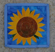 Miniature Sunflower Quilt  5 inches square by sunflowerquilts, $17.00