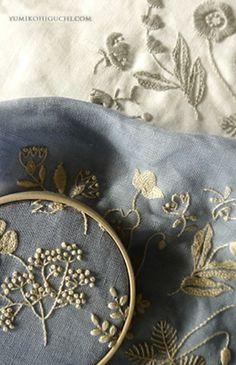 Embroidery work by Yumiko Higuchi