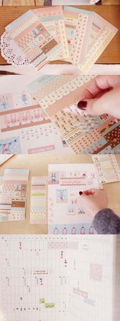 Bring a touch of sweet pastels to your planner, scrapbooks, and more with these adorable patterned stickers!