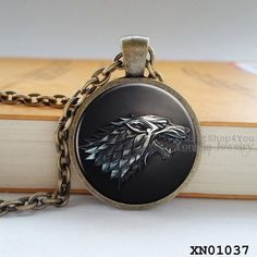 Game of Thrones Song of Fire & Ice Pendant Necklace #gameofthrones #songoficeandfire #got
