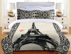 Eiffel Tower Duvet Cover and Shams from Laural Home