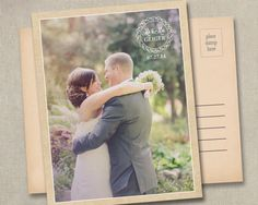 Wedding Thank You Photo Postcards Cards Notes by SAEdesignstudio