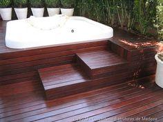 decking around spa
