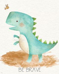 Die Dinos Baby, Baby Dino, Baby Boy, Baby Prints, Wall Art Prints, Dinosaur Posters, 3d Art, Deco Kids, Boy Decor