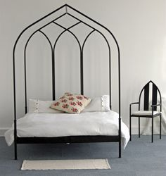Gothic Arch Four Post Bed