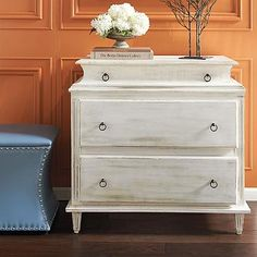 over budget...linen room, would give drawer storage. Olivia Chest