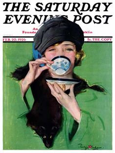 """""""The Saturday Evening Post"""" - February 20, 1926 - Cover by Penhyn Stanlaws"""
