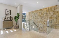 Aussietecture natural stone supplier has a unique range natural stone products for walling, flooring & landscaping. Sandstone Cladding, Natural Stone Cladding, Sandstone Wall, Exterior Wall Cladding, Stone Wall Design, Stone Supplier, Exterior Design, Natural Stones, Landscape Design