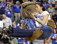 Ashley Judd at a UK men's basketball game