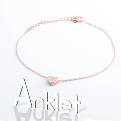 Heart Customize Initial Anklet Personalize Hand Stamped Dainty Heart Charm Bridesmaids Gifts for Mothers day Mother Daughter Valentine's Day Valentines For Daughter, Valentines Day Weddings, Keep Jewelry, Jewelry Gifts, Personalized Jewelry, Custom Jewelry, Rose Gold Charms, Valentine's Day, Mother Day Gifts