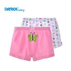 Girls Underwear 2 Pcs / Lot 100% Cotton Boxer Briefs Kids Panties Lovely Cartoon Panties Children's Underwear