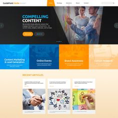 Create a new web site identity for a online publisher GuidePoint Media is an online publishing company focused on targeted enterprise software markets. In addition to publ. Do What You Want, Do You Really, How To Get, Content Marketing, Online Marketing, Internet Logo, Ebook Cover, Wordpress Theme Design, Current News