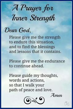Prayer for strength