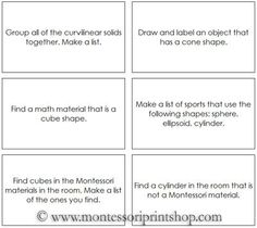 Geometric Solids Command Cards - 50 Command Cards for activities with the Geometric Solids.